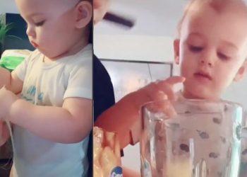 Il bambino di tre anni che prepara la cena a tuta la famiglia (video)